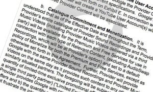 Industry site Digital Music News published YouTube's contract sent to indie labels.
