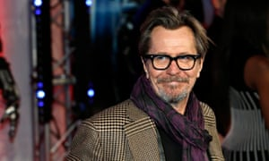 Gary Oldman arrives at the premiere of Robocop  in February this year.