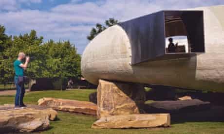 Chilean architect Smiljan Radi designed the fourteenth Serpentine Pavilion which opened this morning