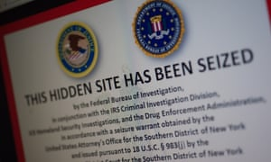 The notice on the Silk Road following the FBI's seizure of its servers.