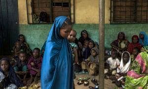 Children in a primary school in a Muslim district of Bangui.
