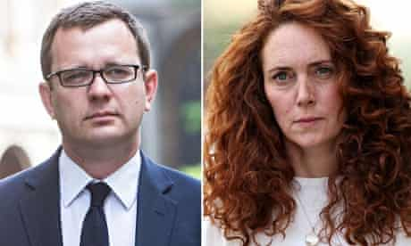 Composite of Andy Coulson and Rebekah Brooks