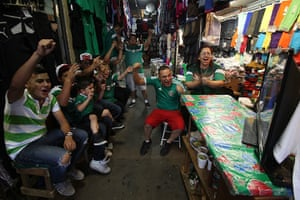 We're through: Mexican soccer fans celebrate Mexico's second goal