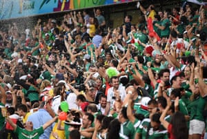 We're through: Mexico's fans celebrate