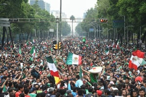 We're through: Soccer fans celebrate Mexico's victory over Croatia