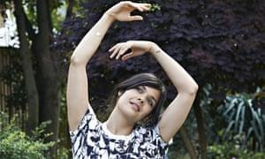 Natasha Khan, aka Bat For Lashes, wearing a T-shirt she designed