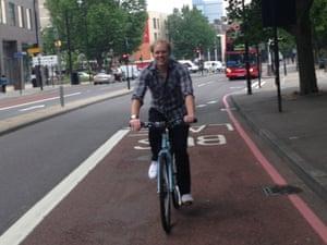 Stuart Heritage on a bicycle