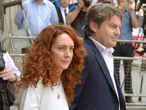 Rebekah Brooks and Charlie Brooks leave the Old Bailey.