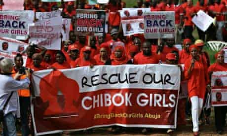 "The Abuja wing of the ""Bring Back Our Girls"" protest group march to the presidential villa in Abuja"