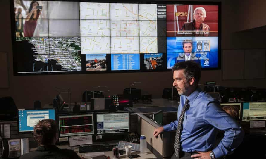 PredPol co-developer P Jeffrey Brantingham at the Unified Command Post in Los Angeles. 'This is not minority report,' he said.