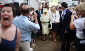 OMG - it's the Queen! Royal visit to St George's indoor market in Belfast