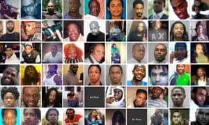 Composite of murder victims featured on the Homicide Watch DC website.