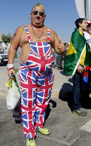 An England supporter prior to the World Cup group D match between Costa Rica and England.