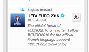 England follow Euro 2016