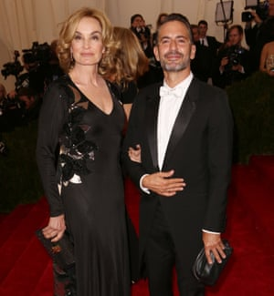 Jessica Lange and Marc Jacobs at the 2014 Met Ball.