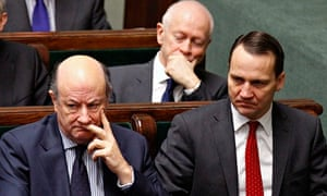 File photo of Poland's Finance Minister Jacek Rostowski and Foreign Minister Radoslaw Sikorski