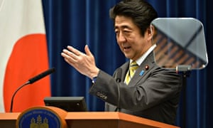 Shinzo Abe speaks at a press conference in Tokyo, 24 June 2014.