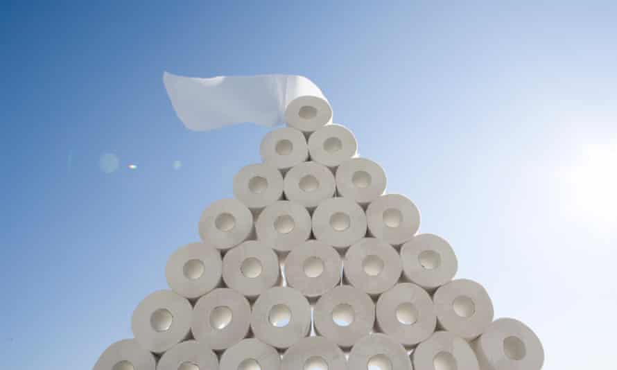 Pile of toilet paper