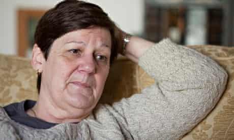 A photo portrait of Jane Nicklinson, widow of Tony, on a sofa