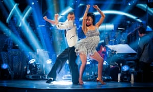 Natalie Gumede and Artem Chigvintsev performing on the BBC's Strictly Come Dancing in December 2013.