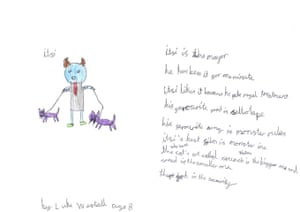 Monster drawing entries: By Luke, aged 7