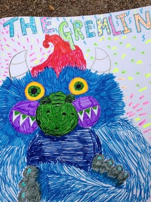 Monster drawing entries: By Lally