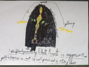 Monster drawing entries: By Elliott, aged 7