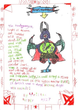 Monster drawing entries: By Tristran, aged 7