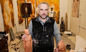 Steve Grant in his studio: 'When you're homeless, the system makes you an alien.'