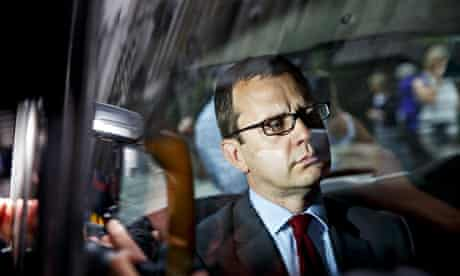 Andy Coulson outside the Old Bailey on Wednesday
