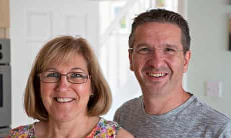 Former Marks and Spencer employees Janice Allen with her husband Stuart