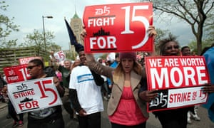 US Money minimum wage fight for 15