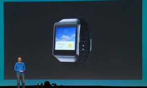 Samsung's Gear Live smartwatch was unveiled at Google's I/O conference.