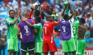 8f6e81af3 Nigeria s players acknowledge the fans after the final whistle.