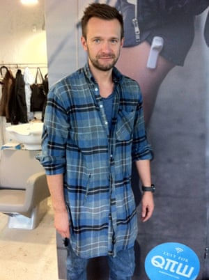 A signature, oversized soft flannel shirt at Robert Kupisz.