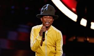 Pharrell Williams performing on German TV.