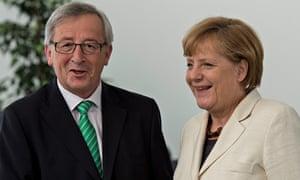 Angela Merkel meets Jean-Claude Juncker