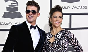 Robin Thicke and his wife Paula Patton