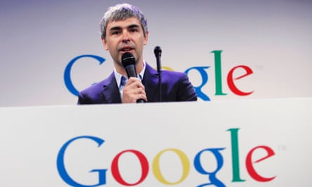 Google CEO Larry Page speaks during a press announcement at Google's headquarters in New York, in this file photo from May 21, 2012.