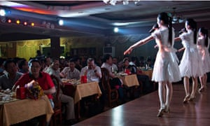 Diners at the Pyongyang Restaurant in Phnom Penh