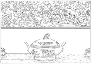 Pollock and Tureen (traced), 1984 / 2013