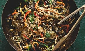 yotam ottolenghi's japchae with mushrooms
