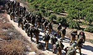Israeli soldiers near Hebron