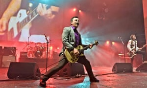 The Manic Street Preachers at Brixton Academy in April. Photograph: Joseph Okpako/Redferns via Getty