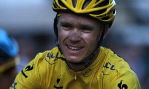 Chris Froome in the Tour de France yellow jersey