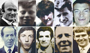 Victims of the Ballymurphy shootings: (clockwise from top left) Father Hugh Mullan, Noel Phillips, Joan Connolly, Eddie Doherty, Joseph Corr, Frank Quinn, John McKerr, Joseph Murphy, John Laverty and Danny Teggart.