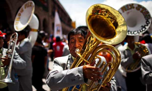 Brass band in Ayacucho Peru