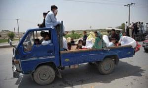 Drone strikes in North Waziristan.