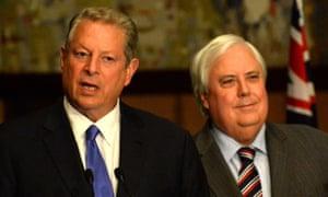 Clive Palmer and Al Gore
