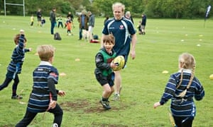 Mini-rugby players